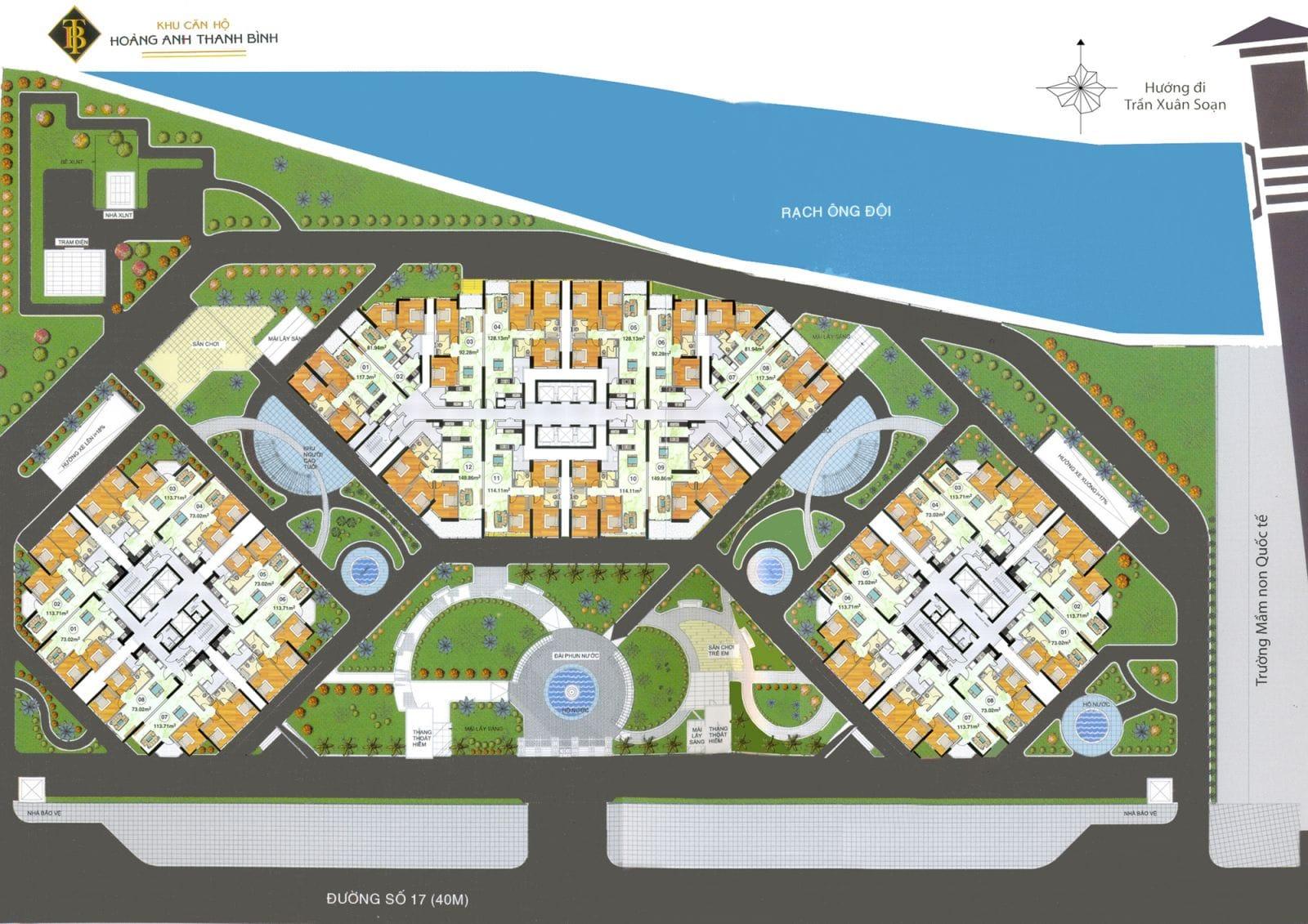 Mặt bằng dự án căn hộ Hoàng Anh Thanh Bình, một dự án căn hộ dưới 2 tỷ ở quận 7